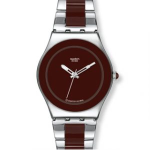 SWATCH Irony Medium(YLS163G)Brown Ceramic