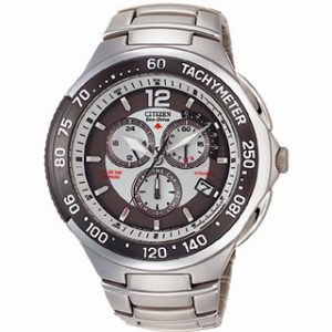 CITIZEN ECO DRIVE(AS4006-53A)RADIO CONTROLLED TITANIUM MULTICHRO
