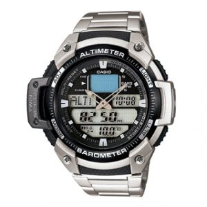 CASIO MULTI TASK GEAR(SGW-400HD-1B)THERMO-ALTI/BARO STEEL