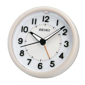 SEIKO(QHE087W)SWEEP SECOND ALARM CLOCK