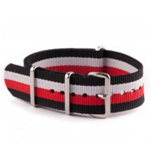 ΛΟΥΡΑΚΙ NATO N13 BLACK/WHITE/RED/BLACK