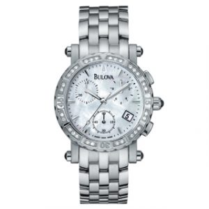 BULOVA(63R35)DIAMONDS CHRONOGRAPH