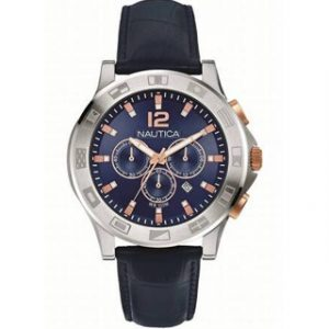 NAUTICA(A22621G)CHRONO LEATHER