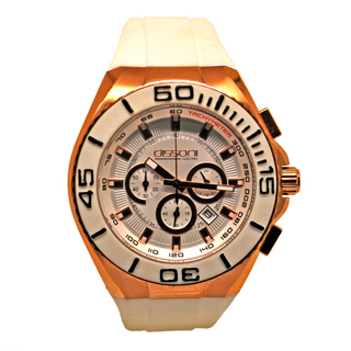DISSONI(k847w)WHITE CHRONO
