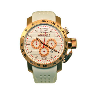 DISSONI(k858WH)WHITE CHRONO